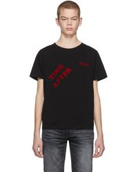 Saint Laurent ブラック Time After Time T シャツ