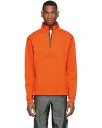 all in - Ssense Exclusive Orange Half-zip Pullover - Lyst