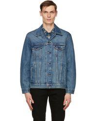 Levi's ブルー デニム トラッカー ジャケット