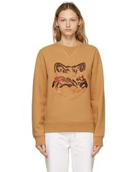 Maison Kitsuné タン Big Fox Embroidery スウェットシャツ - マルチカラー