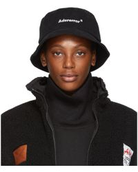 ADER error - Black Diagonal Bucket Hat - Lyst