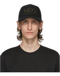 McQ ブラック Mcq Swallow ロゴ キャップ