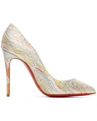 Christian Louboutin ピンク Flame Pigalle Folies 100 ヒール - マルチカラー
