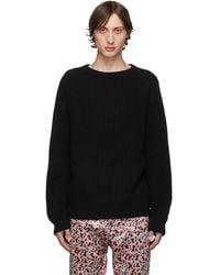 Haider Ackermann Black Ribbed Sweater