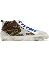 Golden Goose Deluxe Brand - Grey Leopard Mid Star Pony Trainers - Lyst