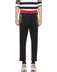 DIESEL - Black And Red P-russi Lounge Trousers - Lyst