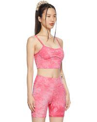 Lacausa Haut bandha rose à motif tie-dye