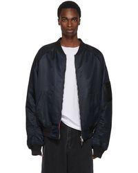 Juun.J - Reversible Black And Red Be Curious Not Judgemental Bomber Jacket - Lyst