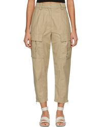3.1 Phillip Lim - Khaki Utility Cargo Trousers - Lyst