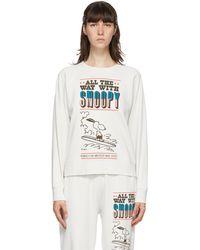 Marc Jacobs Peanuts Edition オフホワイト フレンチ テリースウェットシャツ