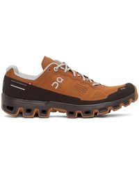 On - Tan & Brown Cloudventure Sneakers - Lyst