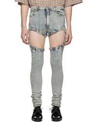 Gucci Blue Bleach Skinny-fit Jeans