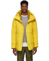 Nanamica - Yellow Down Cape Point Coat - Lyst