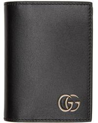 Gucci - ブラック GG Marmont バイフォールド カード ケース - Lyst