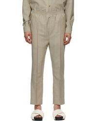 Tom Wood - Ssense Exclusive Beige Wool Elastic Trousers - Lyst