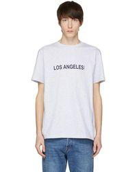 A.P.C. - T-shirt gris Los Angeles - Lyst