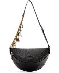 Balenciaga Black Leather Souvenir Belt Bag