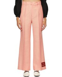 Gucci ' Orgasmique' Wide Trousers - Pink