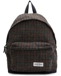 Eastpak Sac a dos en laine rembourre a motif pied-de-poule multicolore Pakr edition Harris Tweed - Noir