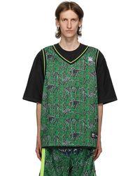 Sankuanz Adidas Originals Edition リバーシブル ブラック & グリーン Gore Halp T シャツ