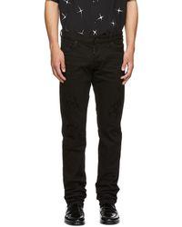 DSquared² - Black Bull Slim Jeans - Lyst