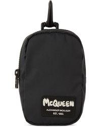 Alexander McQueen Black Mini Headphone Pouch