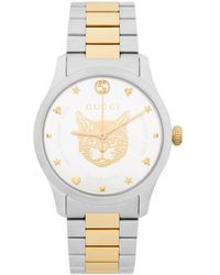 Gucci Ya1264074 G-timeless Stainless Steel And Gold-plated Watch - Metallic
