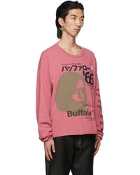 Enfants Riches Deprimes ピンク Japanese Buffalo '66 ロング スリーブ T シャツ