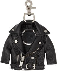 Stolen Girlfriends Club Black Leather Jacket Keychain