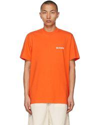 Sunnei - オレンジ & ホワイト ロゴ T シャツ - Lyst