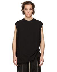 Rick Owens - Black Tarp Sleeveless T-shirt - Lyst