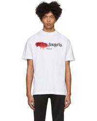Palm Angels ホワイト Tokyo スプレー T シャツ