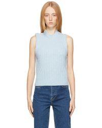 Ganni - ブルー リサイクル ウール セーター - Lyst