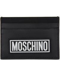 Moschino ブラック Fantasy Print カード ケース