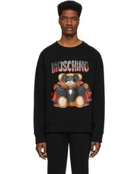 Moschino - ブラック Bat Teddy Bear スウェットシャツ - Lyst