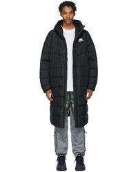 Nike Sportswear Windrunner Down Fill Hooded Puffer Parka - Black