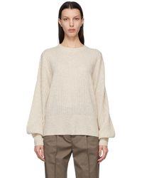 Won Hundred Off-white Wool Blakely O-neck Sweater