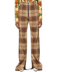 Kwaidan Editions Pantalon à carreaux brun - Marron