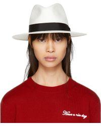 Rag & Bone - White Panama Hat - Lyst