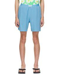 ERL Waffle Shorts - Blue