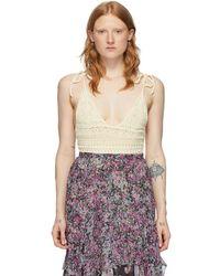 Isabel Marant Body blanc casse Fuzz - Multicolore
