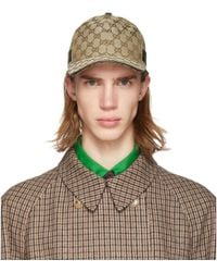 Gucci Web-stripe Gg-logo Baseball Cap - Natural