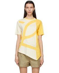 Loewe イエロー オーバーサイズ L ロゴ T シャツ