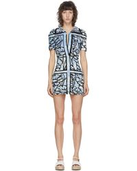 Fendi Joshua Vides Edition ブルー テリークロス ショート ドレス