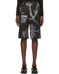 Paul Smith Black Shadow Floral Shorts