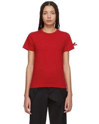 Comme des Garçons - Red Bow Sleeve T-shirt - Lyst