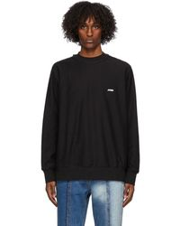 ADER error Black Logo Long Sleeve T-shirt