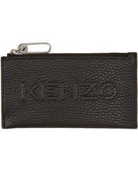 KENZO ジップ Imprint カード ケース - ブラック