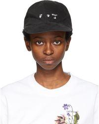 Off-White c/o Virgil Abloh - ブラック & ホワイト ロゴ ベースボール キャップ - Lyst