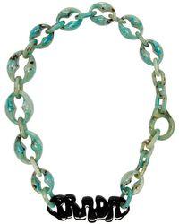 d0715d59d332 Prada - Plexiglass Logo Necklace - Lyst